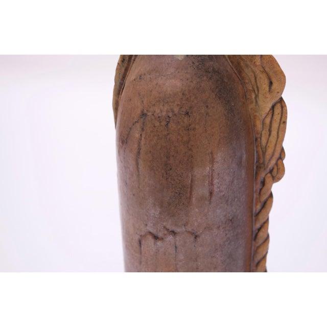 Studio Stoneware Vessel / Candleholder Signed Polk, 1974 For Sale - Image 9 of 13