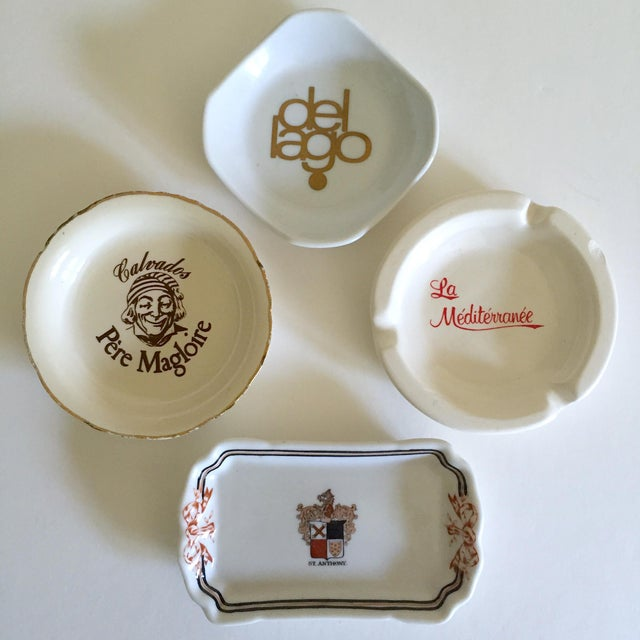 Vintage Mid Century International Hotel & Restaurant Ceramic Ashtrays - Set of 4 For Sale - Image 12 of 12
