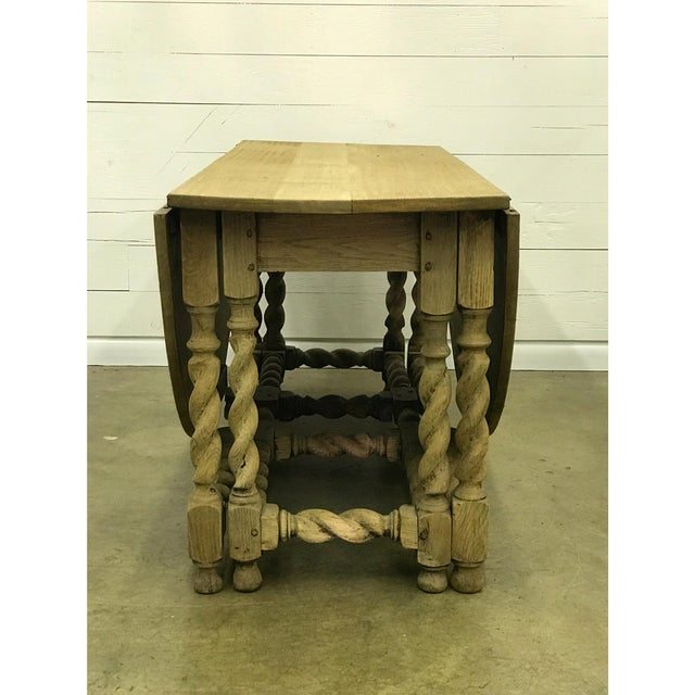 Bleached Oak Gate Leg Dining Table - Image 2 of 9