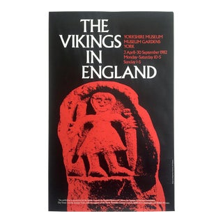 "Vintage 1982 "" the Vikings in England "" Yorkshire Museum British Exhibition Poster For Sale"