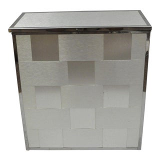 Mid-Century Modern Chrome & Steel Clothes Hamper Basket Bin by Stylebuilt For Sale