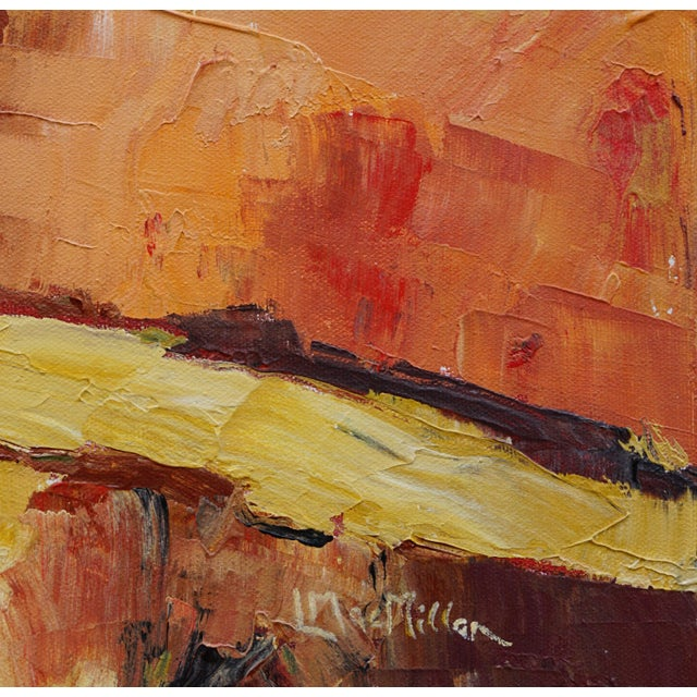 """2010s Laurie MacMillan """"Red Hot"""" Abstract Landscape For Sale - Image 5 of 6"""