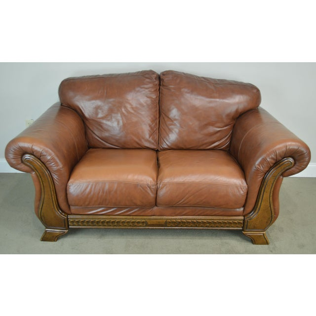 Phenomenal Divani Chateau D Ax Italian Brown Leather Loveseat Caraccident5 Cool Chair Designs And Ideas Caraccident5Info
