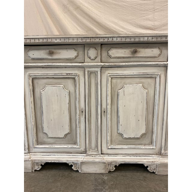 White Italian Painted Buffet Cabinet For Sale - Image 8 of 10