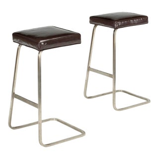 Modern Mid Century Style Bar Stools - a Pair For Sale