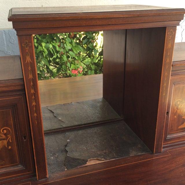 Antique Inlaid Wood Writing Desk - Image 3 of 11 - Antique Inlaid Wood Writing Desk Chairish