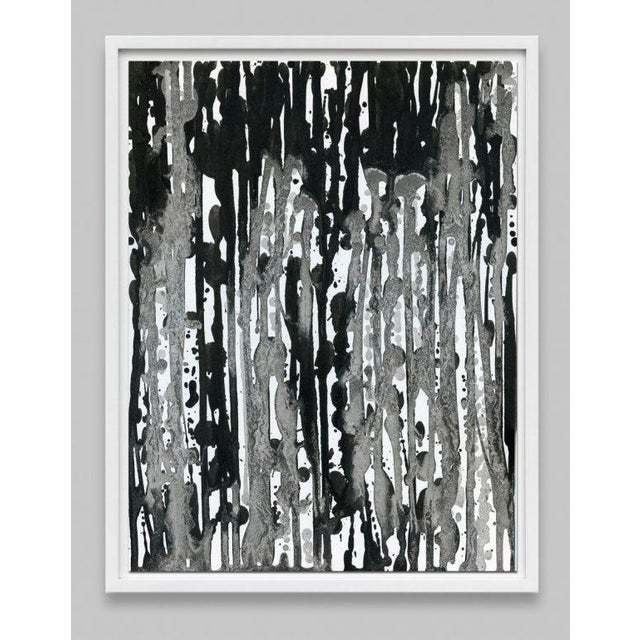This series of Abstract Black and White paintings have rich contrasting layers and textures of wet blacks and slight...