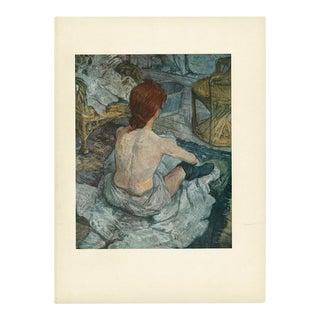 """1950s """"La Toilette"""" First Edition Lithograph by Henri De Toulouse-Lautrec For Sale"""
