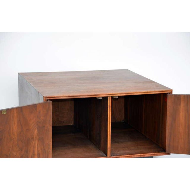 Rare Carved Walnut Cabinet by Brown Saltman For Sale - Image 4 of 10