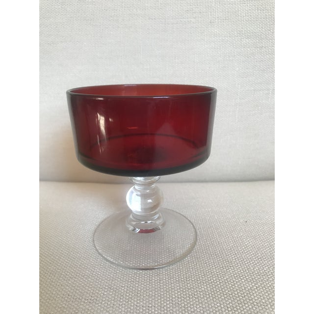 Ruby Red Cocktail Glasses - Set of 10 For Sale - Image 4 of 7