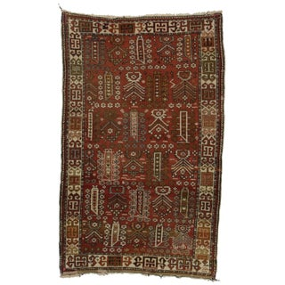"RugsinDallas Hand Knotted Persian Shiraz Rug - 3'9"" X 5'10"" For Sale"