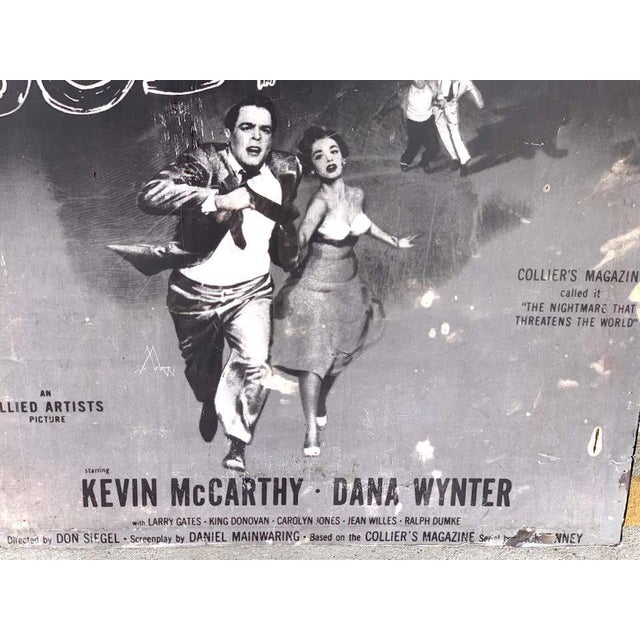 Invasion of the Body Snatchers, Black & White Movie Theatre Poster, 1956 For Sale - Image 9 of 13