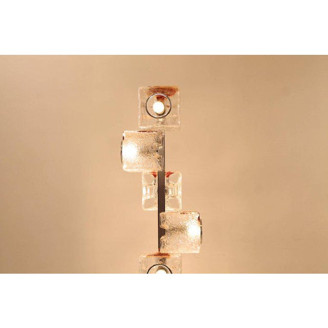 Italian Pair of 1960s VeArt Murano Glass Floor Lamps For Sale - Image 3 of 7