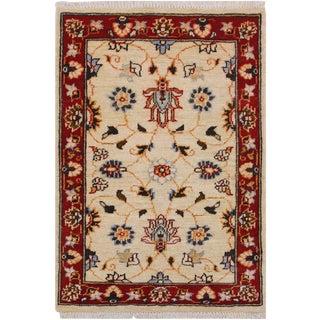 1980s Vintage Floral Ziegler Kafkaz Steen Wool Rug - 2′ × 2′11″ For Sale