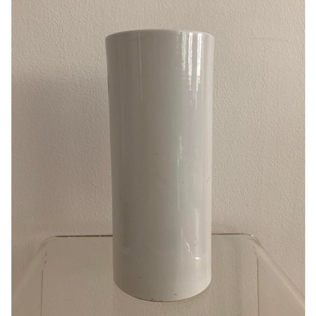 Antique 19th Chinese Hat Stand Cylinder Vase For Sale - Image 9 of 13