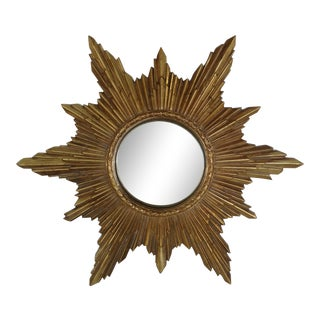 Vintage Sunburst Wall Mirror For Sale