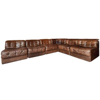 De Sede Ds 11 Modular Patchwork Leather Sectional Sofa For Sale