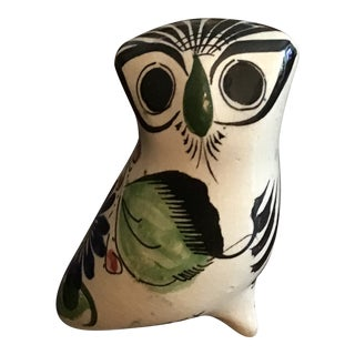 Vintage Tonala Clay Pottery Owl For Sale