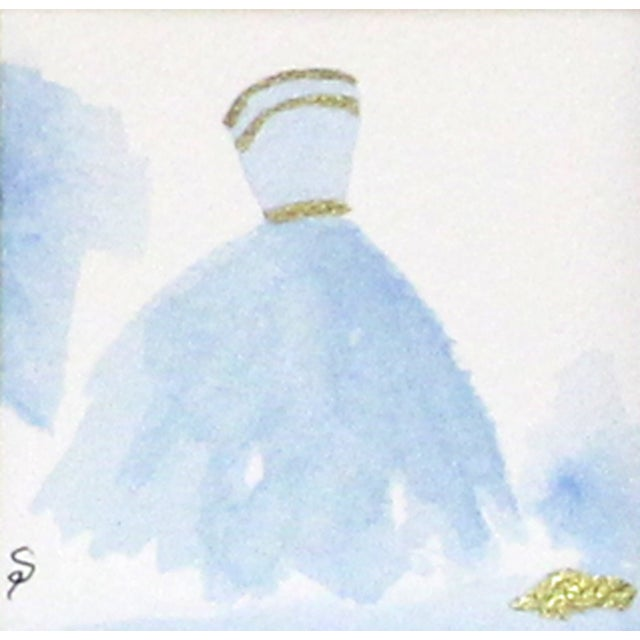 Cinderella Blue Ballgown Painting For Sale