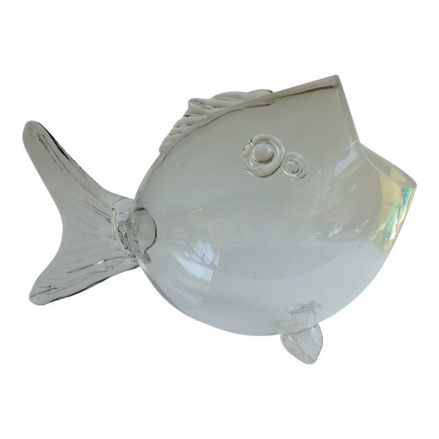 Blenko Blown Glass Fish For Sale