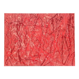 """Original Abstract Expressionism """"Dexter's Room"""" Acrylic Painting For Sale"""