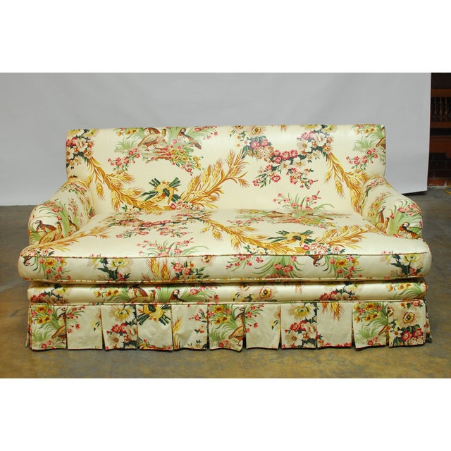 Brunschwig & Fils French Upholstered Toile Sofa For Sale - Image 10 of 10