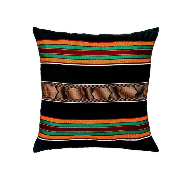 Sample Sale|Kente Cloth Print Pillow- a Pair - Image 1 of 3