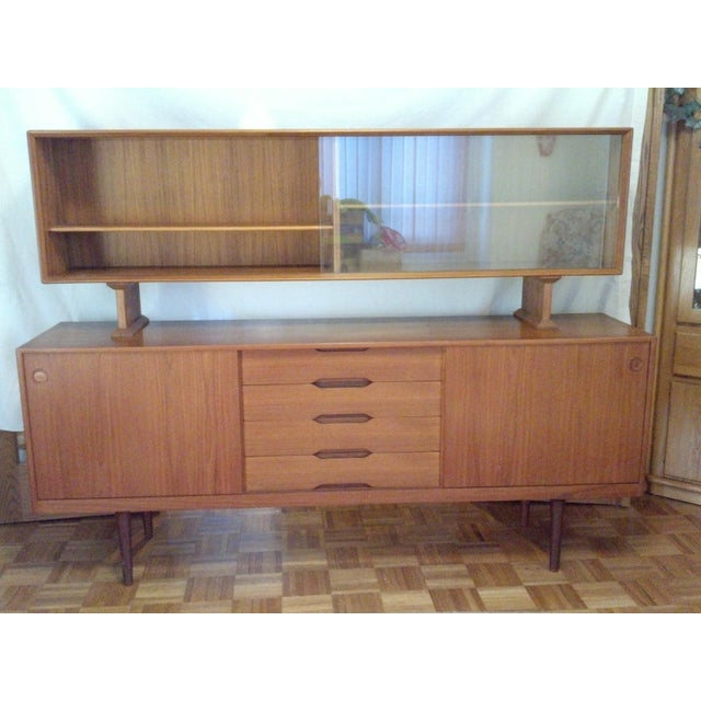 Mid-Century Danish Teak Credenza with Hutch - Image 2 of 7