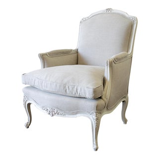 20th Century Vintage Louis XV Style Bergere Chair For Sale