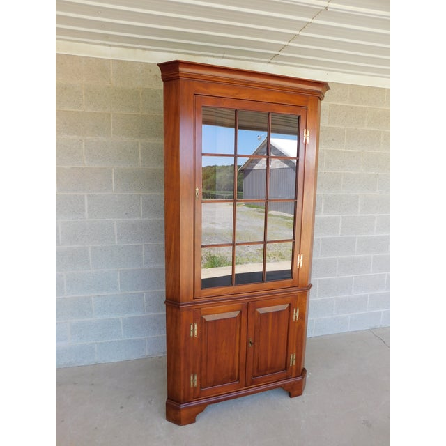 Henkel Harris Chippendale Style Cherry Corner Cabinet For Sale - Image 13 of 13