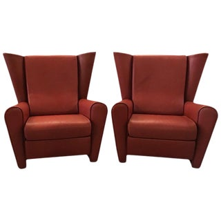 Alessandro Mendini Lounge Chairs for Matteo Grassi-a Pair For Sale
