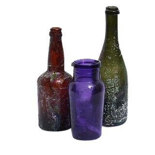 Antique Bottles Vases - Set of 3