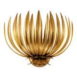 Image of Florentine Antique Gold Leaf Wall Light For Sale