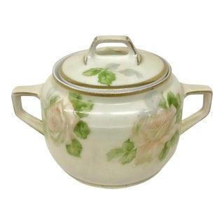 Antique Porcelain Sugar Bowl or Salt Cellar