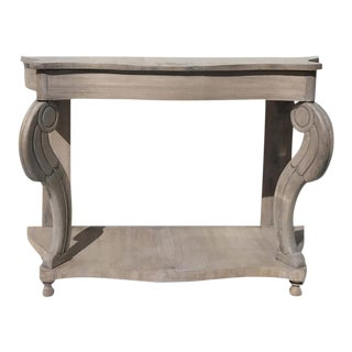 19th Century Spanish Washed Gray Wooden Console For Sale