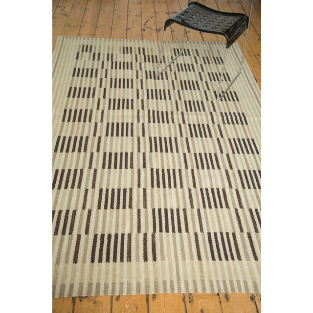 "Contemporary New Kilim Rug - 5'2"" X 7'5"" For Sale - Image 3 of 7"