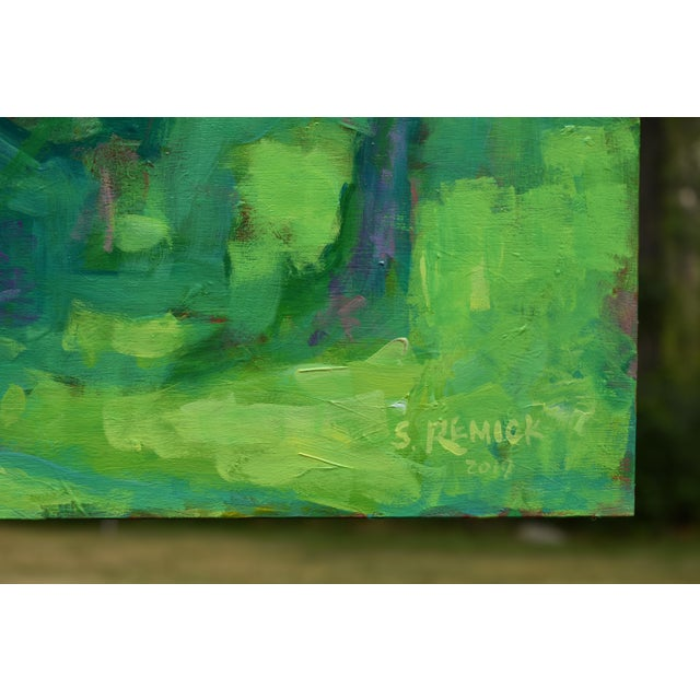 """A Midsummer Day's Dream"" Large (32"" X 80"") Contemporary Painting by Stephen Remick For Sale In Providence - Image 6 of 11"