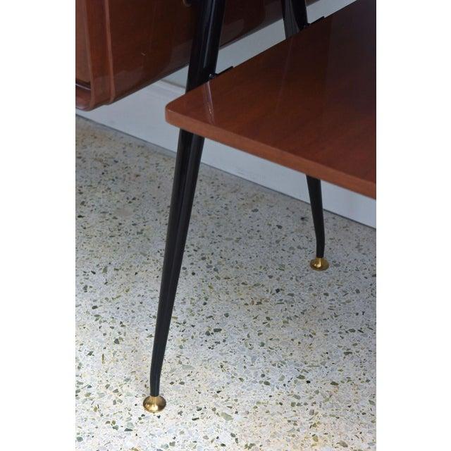 Italian Modern Mahogany and Brass Bar Cabinet or Bookcase, Silvio Cavatorta For Sale - Image 10 of 10