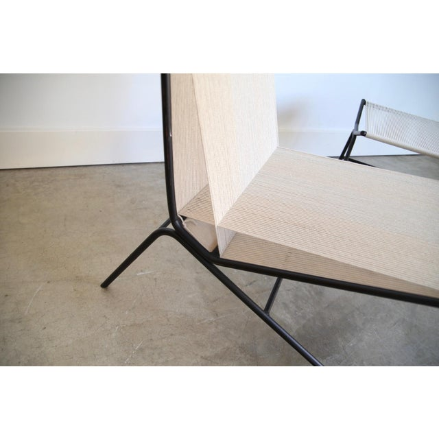 Allan Gould String Chair & Ottoman For Sale - Image 9 of 11