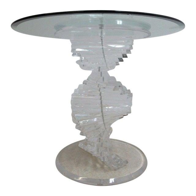 Vintage Interior Concepts Stack Lucite Dinette Dining Table For Sale