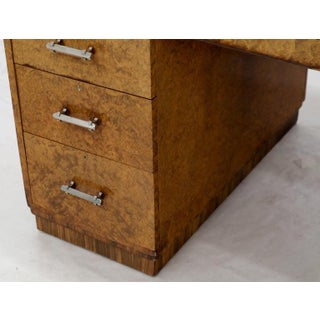 Large Executive Art Deco Burl Wood Partners Desk Preview