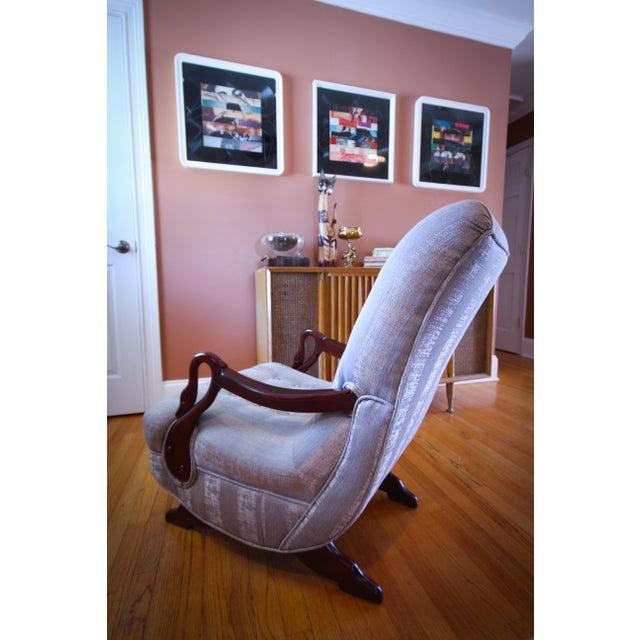 Amazing Antique 1930S Swan Arm Gooseneck Rocking Chair Ibusinesslaw Wood Chair Design Ideas Ibusinesslaworg