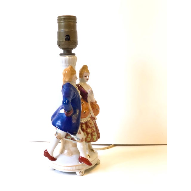 Porcelain Lamps With Musician and Dancer Figurines - Set of 3 For Sale - Image 11 of 13