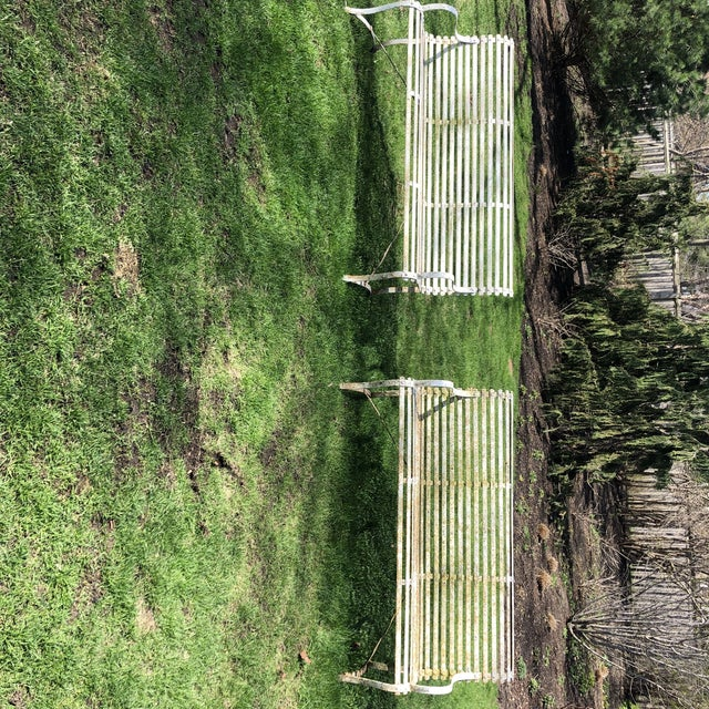 1920s French 1920's White Garden Benches - a Pair For Sale - Image 5 of 12