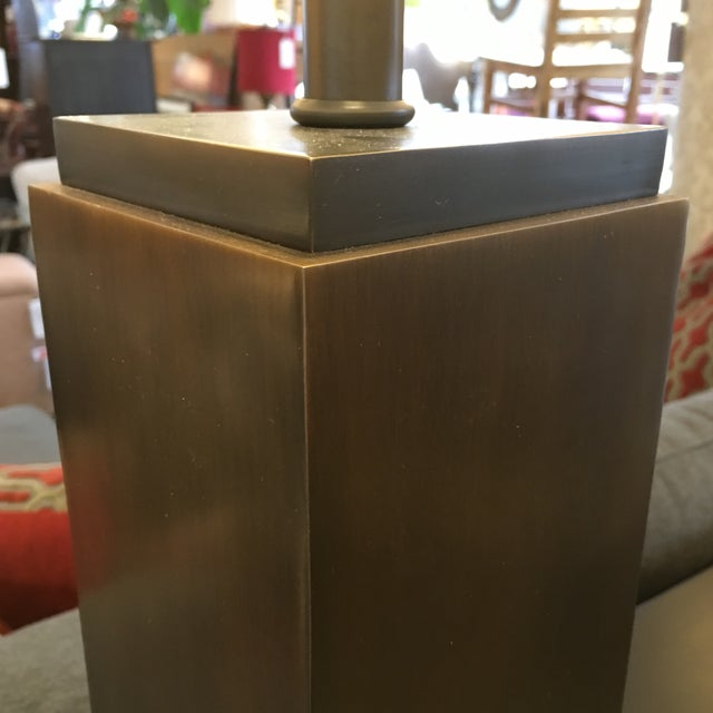 Restoration Hardware Square Column Table Lamp - A Pair For Sale - Image 5 of 7