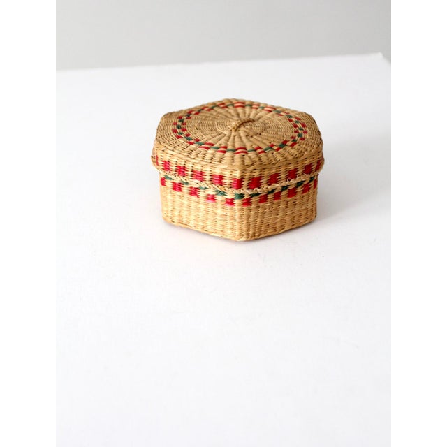 Vintage Sweetgrass Basket For Sale - Image 10 of 10