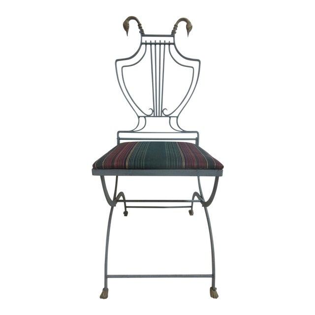 Vintage Lyre Harp Regency Side Chair For Sale
