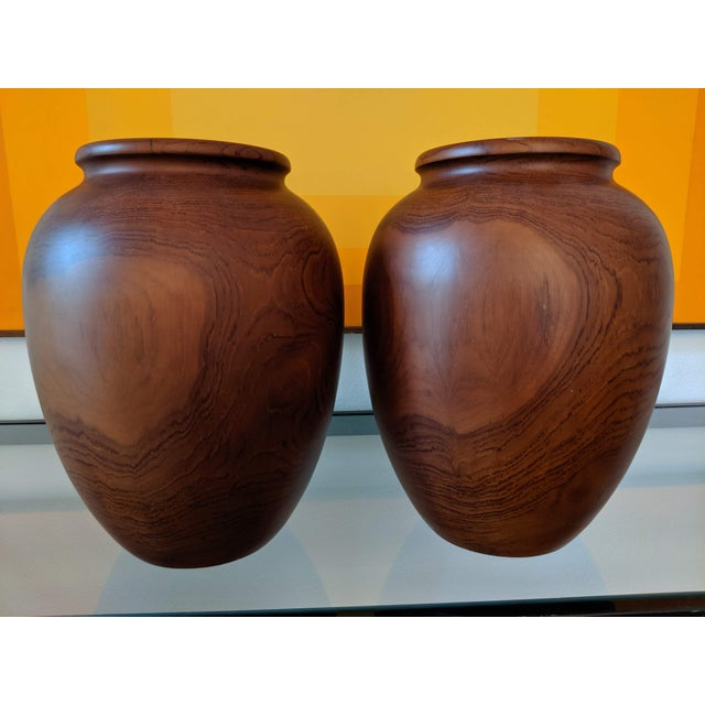 Oversize Turned Walnut Vessels, a Pair For Sale - Image 12 of 12