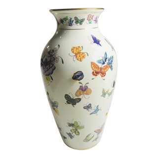 Franklin Mint 'The Vase of a Hundred Butterflies' With 24k Gold For Sale