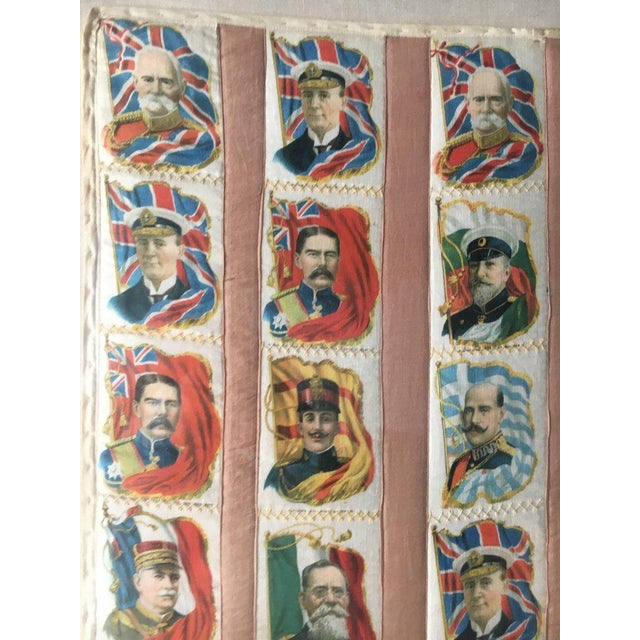Mid 19th Century Imperial Tobacco Company of Canada Silk Trading Cards Quilt Mounted on Canvas For Sale - Image 5 of 6